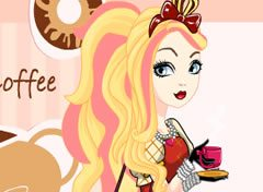Ever After High Apple White Parada para o Café