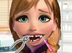 Frozen Princesa Anna no Dentista