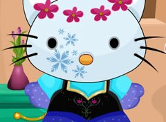 Hello Kitty com Look do Frozen