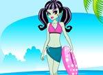 Monster High Frankie Stein na Praia